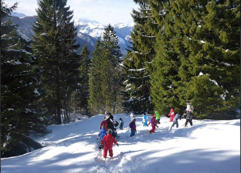 Balade en raquettes accompagnée avec Bureau Montagne Vallée d'Ossau