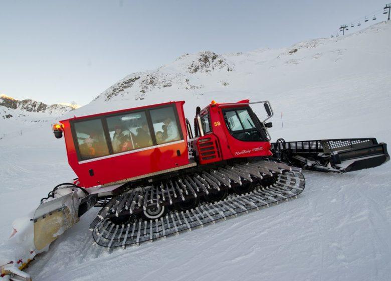 Visite du domaine skiable en dameuse